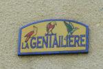 """Détail de la plaque """"La Gentailière"""""""